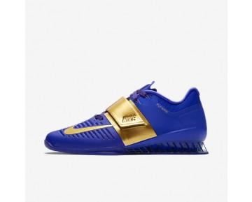 Chaussure Nike Romaleos 3 Royal Reign Pour Homme Fitness Et Training Harmonie/Or Métallique/Bleu Souverain/Or Métallique_NO. AA3156-400