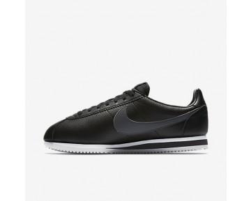 Chaussure Nike Classic Cortez Leather Pour Homme Lifestyle Noir/Blanc/Gris Foncé_NO. 749571-011