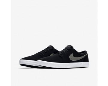 Chaussure Nike Sb Solarsoft Portmore Ii Pour Homme Skateboard Noir/Blanc/Gris Foncé_NO. 880266-010