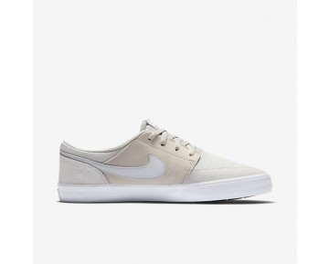 Chaussure Nike Sb Solarsoft Portmore Ii Pour Homme Skateboard Beige Clair/Blanc/Noir/Platine Pur_NO. 880266-041