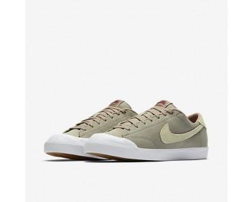 Chaussure Nike Sb Zoom All Court Ck Pour Homme Skateboard Kaki/Blanc/Gomme Marron Clair/Champignon_NO. 806306-221