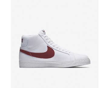Chaussure Nike Sb Zoom Blazer Mid Canvas Pour Homme Skateboard Blanc/Cèdre_NO. 902662-169