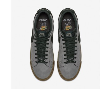 Chaussure Nike Sb Blazer Low Gt Pour Homme Skateboard Umée De Pistolet/Gomme Marron Clair/Flamme Orange/Épinette Noire_NO. 704939-018