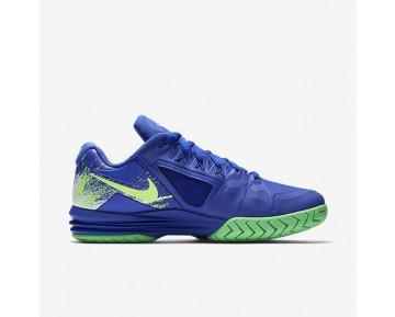 Chaussure Nike Court Lunar Ballistec 1.5 Legend Pour Homme Tennis Bleu Souverain/Vert Electro/Blanc/Vert Ombre_NO. 812939-400