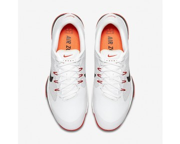 Chaussure Nike Court Air Zoom Ultra Pour Homme Tennis Blanc/Orange Max/Noir/Noir_NO. 845007-100