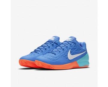 Chaussure Nike Court Zoom Cage 2 Clay Pour Homme Tennis Bleu Moyen/Bleu Polarisé/Hyper Orange/Blanc_NO. 844961-400