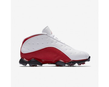 Chaussure Nike Air Jordan 13 Pour Homme Golf Blanc/Rouge Université/Blanc/Rouge Université_NO. 917719-101