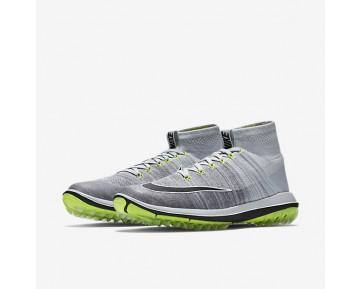 Chaussure Nike Flyknit Elite Pour Homme Golf Platine Pur/Gris Froid/Volt/Noir_NO. 844450-002