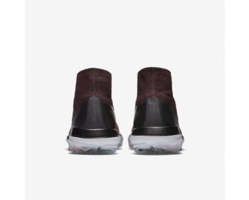 Chaussure Nike Flyknit Elite Pour Homme Golf Bordeaux Foncé/Orange Max/Melon Brillant/Blanc_NO. 844450-601