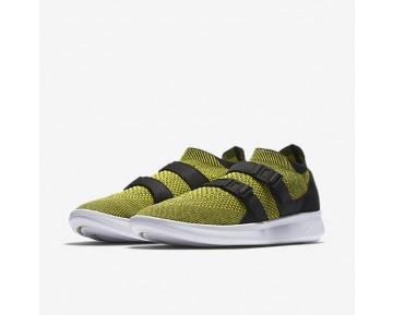 Chaussure Nike Air Sock Racer Ultra Flyknit Pour Homme Lifestyle Jaune Strike/Noir/Jaune Strike_NO. 898022-700