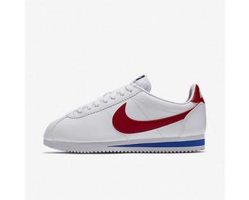 Chaussure Nike Classic Cortez Pour Femme Lifestyle Blanc/Royal Éclatant/Rouge Intense_NO. 807471-103