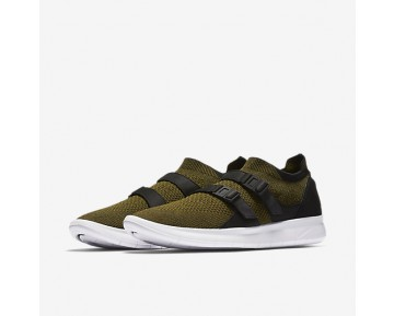 Chaussure Nike Air Sock Racer Ultra Flyknit Pour Homme Lifestyle Flak Olive/Noir/Blanc/Flak Olive_NO. 898022-002