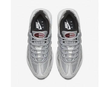 Chaussure Nike Air Max 95 Qs Pour Femme Lifestyle Argent Métallique/Noir/Blanc/Rouge Intense_NO. 814914-002