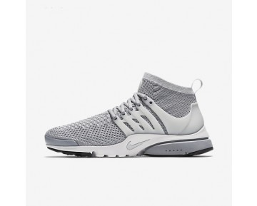 Chaussure Nike Air Presto Ultra Flyknit Pour Homme Lifestyle Gris Loup/Blanc/Noir/Platine Pur_NO. 835570-002