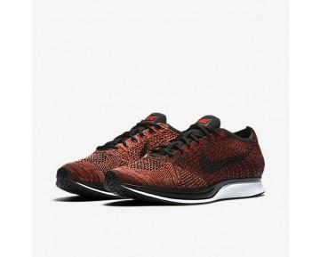 Chaussure Nike Flyknit Racer Pour Femme Lifestyle Rouge Université/Mangue Brillant/Noir_NO. 526628-608