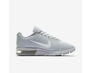 Chaussure Nike Air Max Sequent 2 Pour Femme Lifestyle Platine Pur/Gris Loup/Platine Métallisé/Blanc_NO. 852465-007