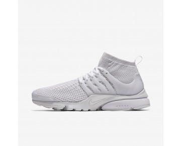 Chaussure Nike Air Presto Ultra Flyknit Pour Homme Lifestyle Blanc/Blanc/Cramoisi Total/Blanc_NO. 835570-100
