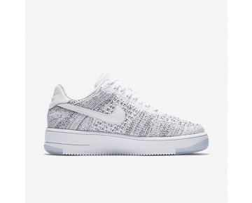 Chaussure Nike Air Force 1 Flyknit Low Pour Femme Lifestyle Blanc/Noir/Blanc_NO. 820256-103