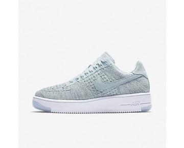 Chaussure Nike Air Force 2 Flyknit Low Pour Femme Lifestyle Bleu Glacier/Blanc/Vert Vapeur/Bleu Glacier_NO. 820256-400