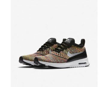 Chaussure Nike Air Max Thea Ultra Flyknit Pour Femme Lifestyle Cramoisi Brillant/Noir/Blanc/Gris Loup_NO. 881175-600
