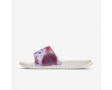 Chaussure Nike Benassi Just Do It Ultra Premium Pour Femme Lifestyle Voile/Bordeaux/Rose Prisme_NO. 818737-106