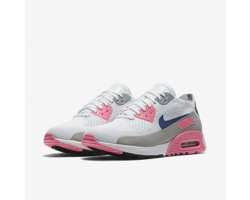 Chaussure Nike Air Max 90 Ultra 2.0 Flyknit Pour Femme Lifestyle Blanc/Rose Laser/Noir/Harmonie_NO. 881109-101