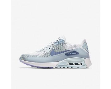 on sale 5cabc c3f65 Chaussure Nike Air Max 90 Ultra 2.0 Flyknit Pour Femme Lifestyle Blanc Bleu  Glacier