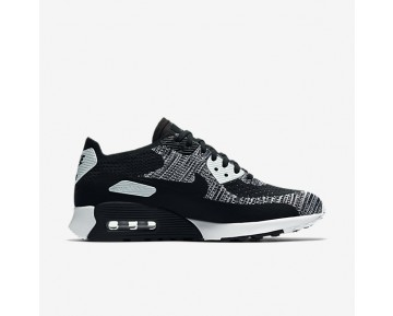 Chaussure Nike Air Max 90 Ultra 2.0 Flyknit Pour Femme Lifestyle Noir/Blanc/Anthracite/Noir_NO. 881109-002