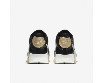 Chaussure Nike Air Max 90 Ultra 2.0 Flyknit Metallic Pour Femme Lifestyle Noir/Noir_NO. 881563-001