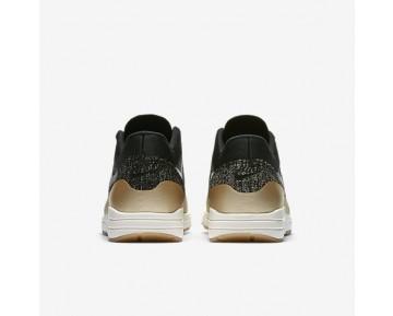 Chaussure Nike Air Max 1 Ultra 2.0 Flyknit Metallic Pour Femme Lifestyle Noir/Étoile D'Or Métallique/Opale Mat/Noir_NO. 881195-001