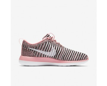 Chaussure Nike Roshe Two Flyknit Pour Femme Lifestyle Melon Brillant/Noir/Blanc_NO. 844929-801
