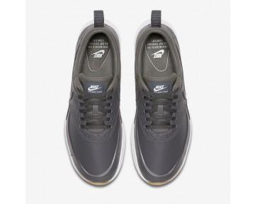 Chaussure Nike Air Max Thea Premium Pour Femme Lifestyle Gris Foncé/Jaune Gomme/Blanc/Gris Foncé_NO. 616723-015