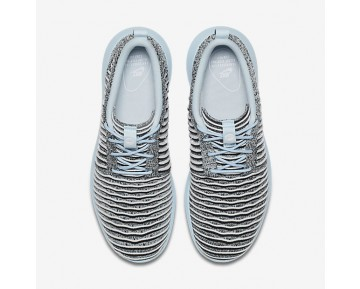 Chaussure Nike Roshe Two Flyknit Pour Femme Lifestyle Bleu Glacier/Noir/Blanc_NO. 844929-402