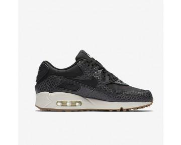 Chaussure Nike Air Max 90 Premium Pour Femme Lifestyle Noir/Voile/Gomme Marron/Noir_NO. 443817-010
