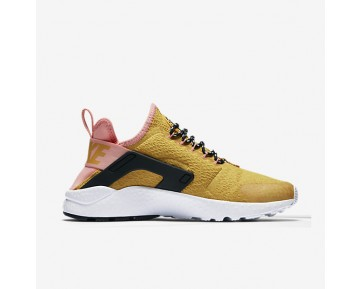 Chaussure Nike Air Huarache Ultra Se Pour Femme Lifestyle Jaune D'Or/Melon Brillant/Noir/Jaune D'Or_NO. 859516-700
