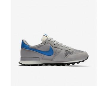 Chaussure Nike Internationalist Pour Homme Lifestyle Argent Mat/Voile/Noir/Bleu Étincelle_NO. 828041-004
