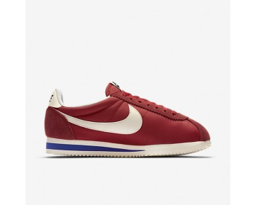 Chaussure Nike Classic Cortez Nylon Premium Pour Femme Lifestyle Rouge Université/Royal Ancien/Voile_NO. 882258-600