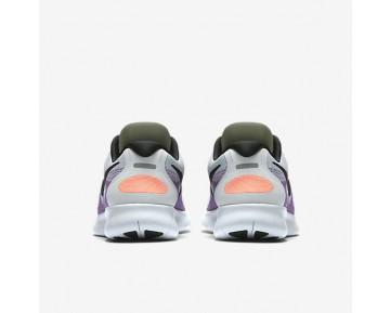Chaussure Nike Free Rn 2017 Pour Femme Running Blanc Cassé/Rouge Cocktail/Bleu Chlorine/Noir_NO. 880840-102