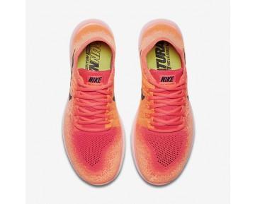 Chaussure Nike Free Rn Flyknit 2017 Pour Femme Running Mangue Brillant/Rose Coureur/Orange Total/Noir_NO. 880844-800