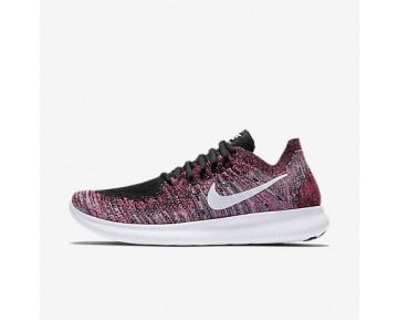 Chaussure Nike Free Rn Flyknit 2017 Pour Femme Running Noir/Rose Coureur/Bleu Gamma/Blanc_NO. 880844-006