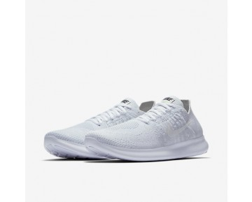 Chaussure Nike Free Rn Flyknit 2017 Pour Femme Running Blanc/Platine Pur/Noir/Blanc_NO. 880844-100