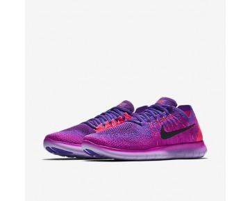 Chaussure Nike Free Rn Flyknit 2017 Pour Femme Running Rose Feu/Hyper Raisin/Rose Coureur/Noir_NO. 880844-600