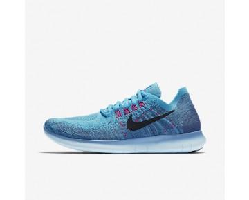 Chaussure Nike Free Rn Flyknit 2017 Pour Femme Running Bleu Toile/Bleu Chlorine/Bleu Lune/Obsidienne Foncée_NO. 880844-400