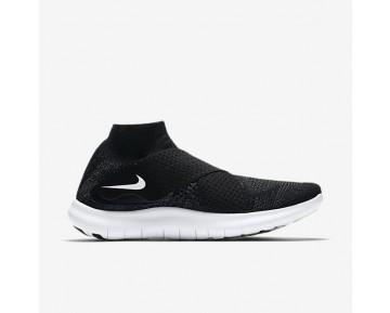 Chaussure Nike Free Rn Motion Flyknit 2017 Pour Femme Running Noir/Gris Foncé/Volt/Blanc_NO. 880846-003