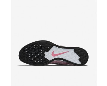 Chaussure Nike Flyknit Racer Pour Femme Running Rose Perle/Melon Brillant/Gris Loup/Gris Froid_NO. 526628-604