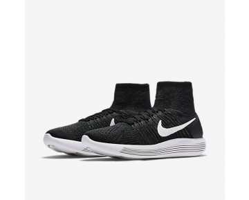 Chaussure Nike Lunarepic Flyknit Pour Femme Running Noir/Anthracite/Volt/Blanc_NO. 818677-007