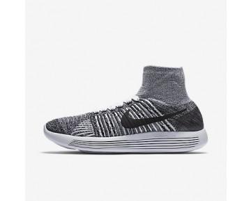 Chaussure Nike Lunarepic Flyknit Pour Femme Running Blanc/Noir/Noir_NO. 818677-101