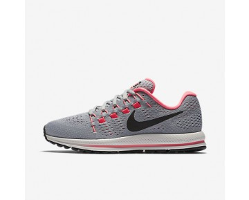 Chaussure Nike Air Zoom Vomero 12 Pour Femme Running Gris Loup/Platine Pur/Rouge Cocktail/Noir_NO. 863766-002