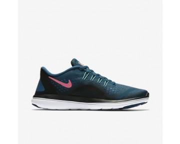 Chaussure Nike Flex 2017 Rn Pour Femme Running Bleu Légion/Noir/Rouge Cocktail/Vert Phosphorescent_NO. 898476-401