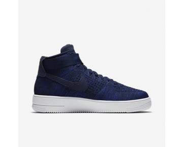 Chaussure Nike Air Force 1 Ultra Flyknit Pour Homme Lifestyle Bleu Marine Collège/Noir/Blanc/Bleu Marine Collège_NO. 817420-401